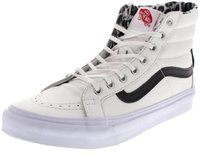 Vans Sk8-Hi Slim Zip Leather true white/snow leopard
