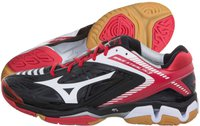 Mizuno Wave Stealth 3 black/white/chinese red