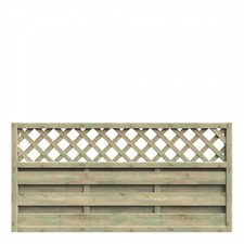 Delta Gartenholz Mailand Halbelement mit Rankgitter 180 x 90 cm