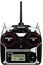 Sanwa Aquila-6 Stick-Fernsteuer Set 6-Kanal 2.4GHz FHSS-1 RX-600 Mode 2 (101A30774A)