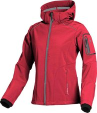CMP Campagnolo Women Softshell Jacket Zip Hood (3A05396) Red Fluo-Grey