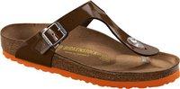 Birkenstock Gizeh Birko-Flor/Lack bison brown/orange