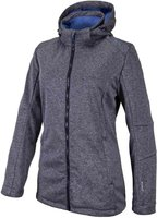 CMP Campagnolo Woman Softshell Jacket Zip Hood (3A22226) Navy Mel.-Persia-Navy