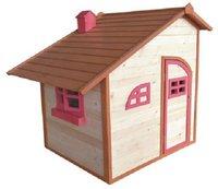 Sun Spielwaren Spielhaus aus Holz natur/ rot