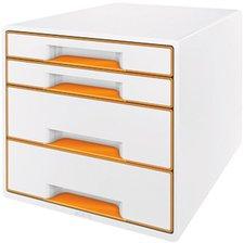 Leitz Box Wow Cube (4 Schübe) perlweiß/orange