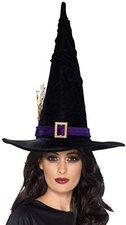 Smiffys Hexenhut schwarz mit violettem Band