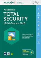 Kaspersky Total Security Multi Device 2016 Upgrade (3 Geräte) (1 Jahr)