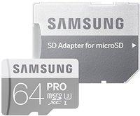 Samsung PRO microSDXC 64GB UHS-I U3 (MB-MG64E)