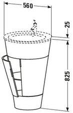 Duravit Starck Waschtischunterschrank S19520 Amerikanisch Nussbaum