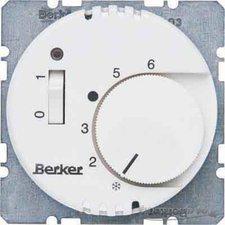 Berker Raumtemperaturregler 24 V rund polarweiß