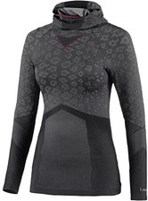 Odlo Blackcomb Evolution Warm Shirt l/s with Facemask Women concrete grey / black / magenta purple