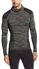 Odlo Blackcomb Evolution Warm Shirt l/s with Facemask Men concrete grey / black / cherry tomato