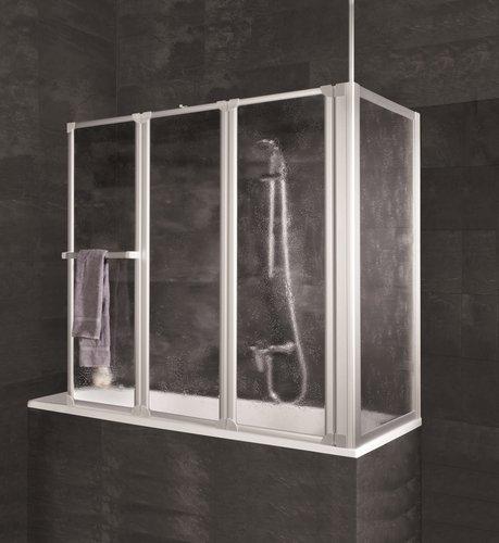 schulte badewannenfaltwand 3 teilig mit seitenwand rechts g nstig. Black Bedroom Furniture Sets. Home Design Ideas