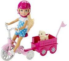 Barbie Das große Hundeabenteuer Chelsea Dreirad mit Hündchenwagen