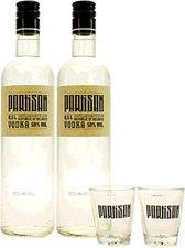 Partisan Set: 2 Flaschen 0,7l 50% + 2 Partisan Gläser