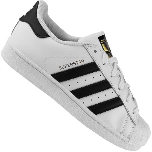 adidas Originals Superstar, Unisex-Kinder Sneakers, Weiß (FTWR White/Core Black/FTWR White), 35.5 EU (3 Kinder UK)