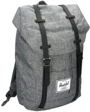 Herschel Retreat Backpack raven crosshatch/black rubber/3m insert