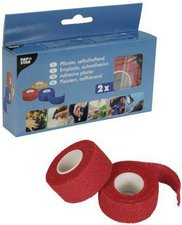 Papstar Pflaster selbsthaftend 5 m x 2 cm rot (30Stk.)