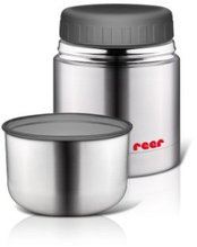 Reer Edelstahl Warmhaltebox mit Becher (350 ml)