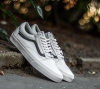 Vans Old Skool Zip Premium Leather true white