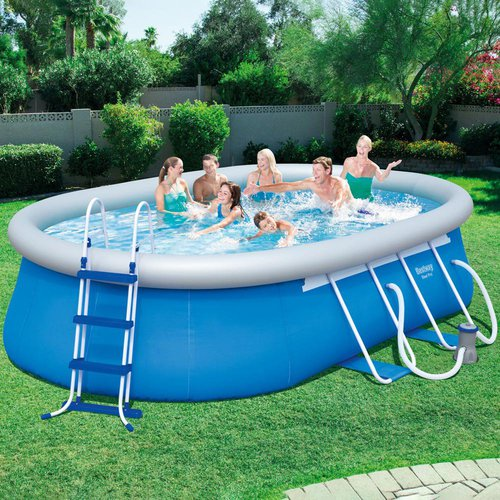 Bestway fast set pool 488 x 305 x 107 cm 56447 for Garten pool bestway