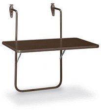 Best Freizeitmöbel Balkonhängetisch 60x40cm braun