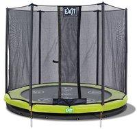 Exit Trampolin Twist Ground 183 cm mit Sicherheitsnetz rosa/grau