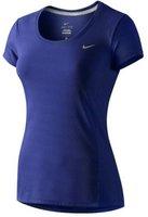 Nike Dri-Fit Contour kurzarm Damen-Laufshirt deep royal blue