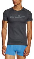 Odlo Shirt s/s Crew Neck Logo Line Men (140822) ebony grey / black