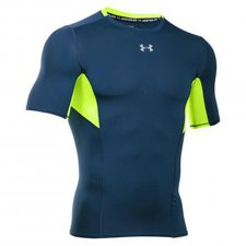 Under Armour Men's HG Compression CoolSwitch Short Sleeve blackout navy