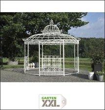 CLP Trading GmbH XXL Luxus Pavillon Romantik rund (Ø 5m) antik-weiß