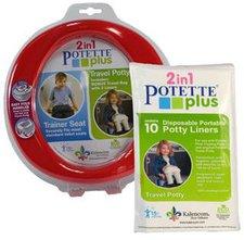 Potette Plus  Reisetöpfchen + 10er Pack Einlegetüten