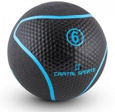 Capital Sports Rotunder Medizinball Gummi schwarz 6kg
