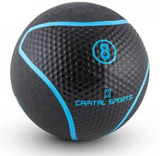 Capital Sports Rotunder Medizinball Gummi schwarz 8kg