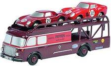 Schuco Fiat Bartoletti Renntransporter mit Piccolo Ferrari 250LM und 250GTO (450589000)