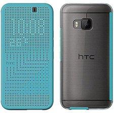 HTC Dot View Ice Case türkis (One M9)