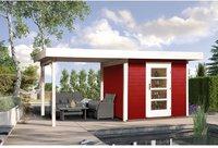 weka Holzbau Designhaus 172 B Gr. 2 schwedenrot (590 x 300 cm)