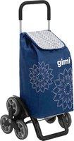 Gimi Tris Einkaufsroller floral blau
