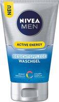 NIVEA FOR MEN Active Energy Gesichtspflege Waschgel (100ml)