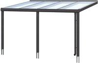Skanholz Aluminium-Terrassenüberdachung Garda anthrazit (648 x 307 cm)