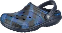 Crocs Classic Fuzz Lined Graphic Clog navy/cerulean blue