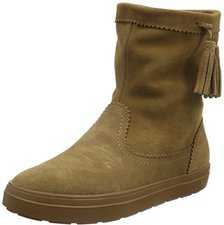 Crocs Women's LodgePoint Suede Pull-on Boot hazelnut