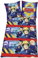 Herding Feuerwehrmann Sam (blau) 80x80+135x200cm
