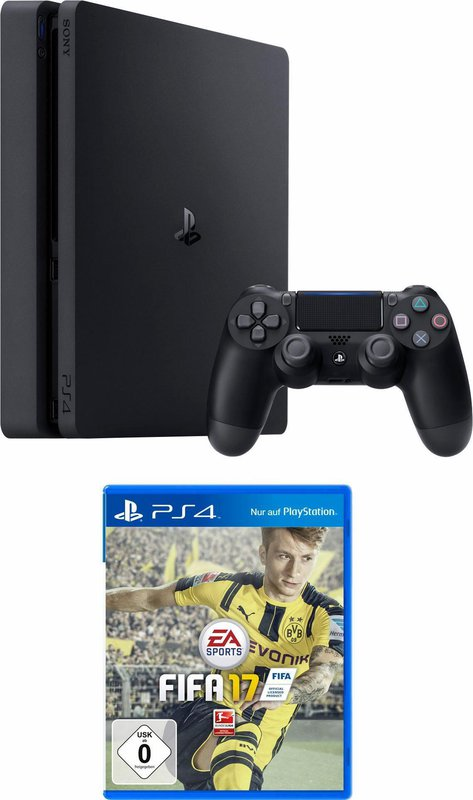 sony playstation 4 ps4 slim 500gb fifa 17. Black Bedroom Furniture Sets. Home Design Ideas