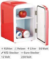 Rosenstein Mini-Kühlschrank AC/DC rot