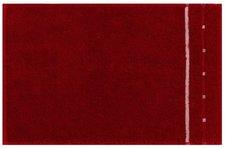 Vossen Quadrati Gästetuch rubin/weiß (30x50cm)