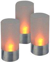 H+H Hartig & Helling LED 39 LED-Teelicht mit Edelstahlfuß (3 Stk.)