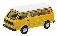 Schuco VW T3 Camper mit Faltdach gelb 1:64 (452013800)