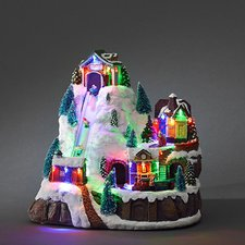 Konstsmide LED-Szenerie mit  Skilift mir Ba