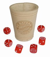 Teepe Sportverlag FC Bayern Würfelbecher und 6 Würfel